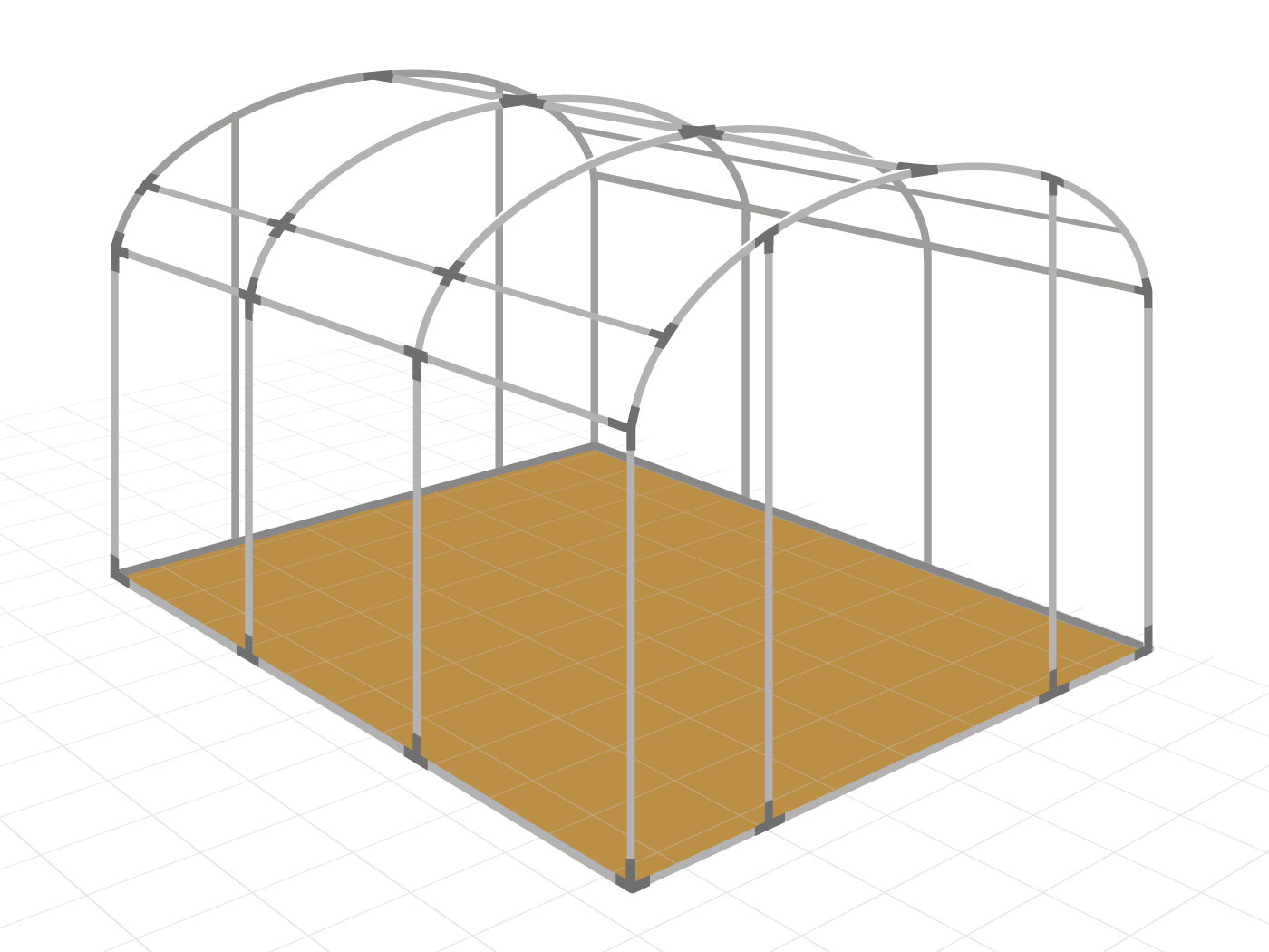 3. Assemble the polytunnel hoops